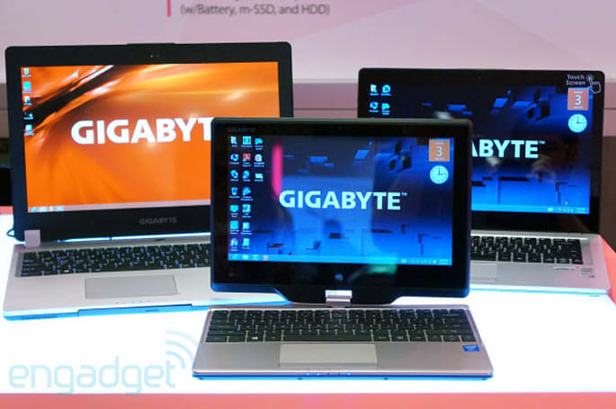 Gigabyte PC revamps include game-ready Ultrabooks, AMD A4-based tablet (hands-on)