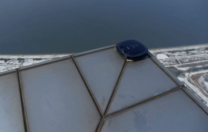 Don't look down: LG tests its robotic vacuum cleaners at extreme heights