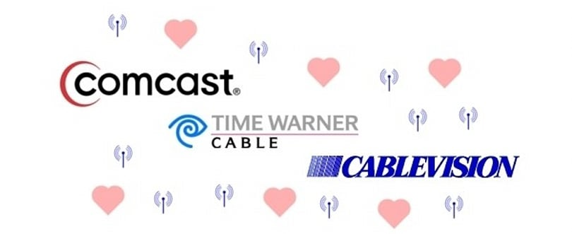 Comcast, TWC and Cablevision make friendly, team up for NYC-wide WiFi