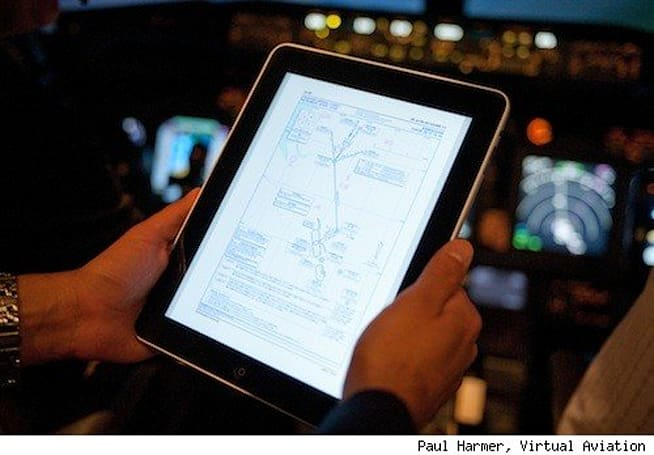 iPads on the virtual flight deck