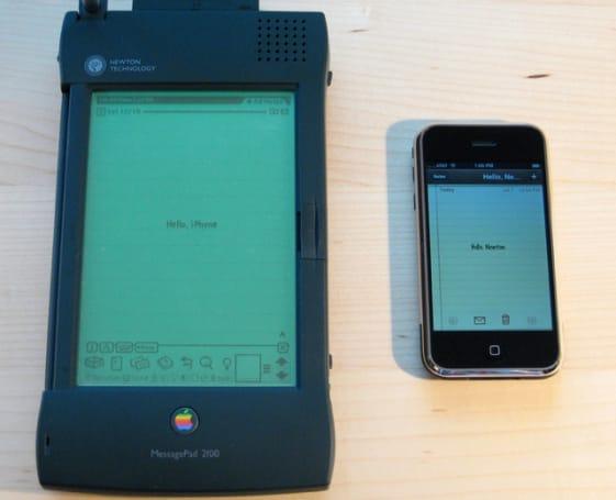 Hello, Newton. Hello, iPhone.
