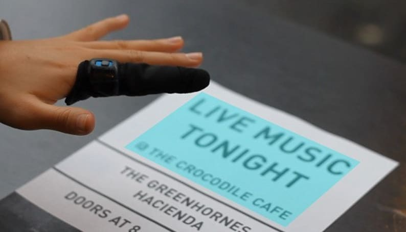 Thimble concept translates real-world input into real-time Braille (video)