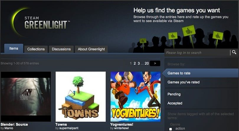 Steam Greenlight adds non-gaming category for your consideration