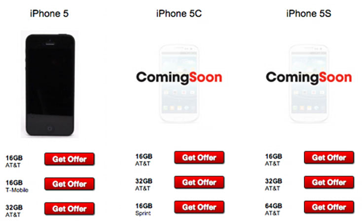 iPhone 5s reappears on GameStop trade-in page, joined by the 5c