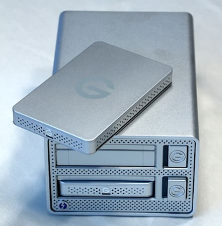 G-Technology G-DOCK ev: Thunderbolt and two removable drives for ultimate flexibility