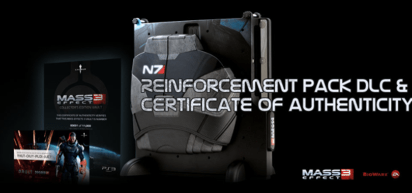 Mass Effect 3 Vault comes with DLC too