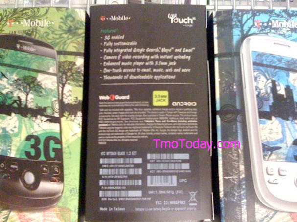 T-Mobile myTouch 3G with 3.5mm jack seen awaiting a lucky owner