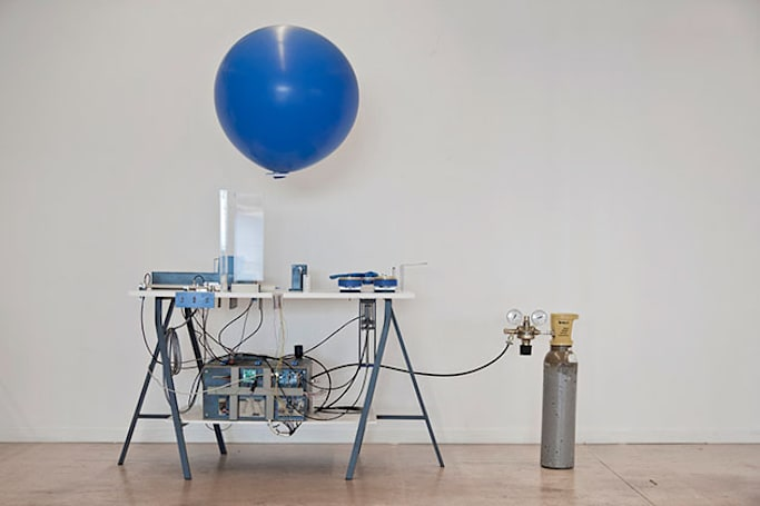 A Swiss designer built a machine that sends messages by balloon