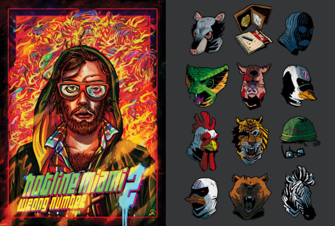 Hotline Miami prints, shirts, buttons hit iam8bit store