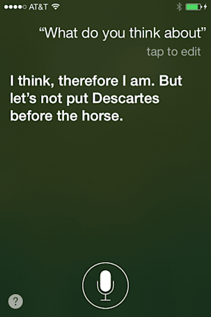 Talking to Siri: Thinking different