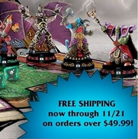 Upper Deck offers free shipping on WoW stuff