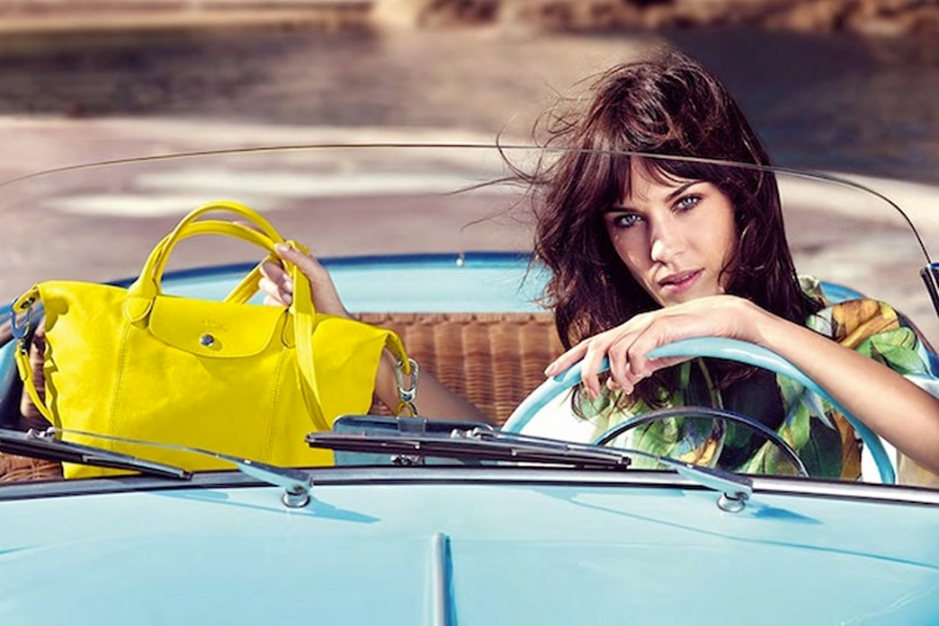 Alexa Chung is the new face of Longchamp