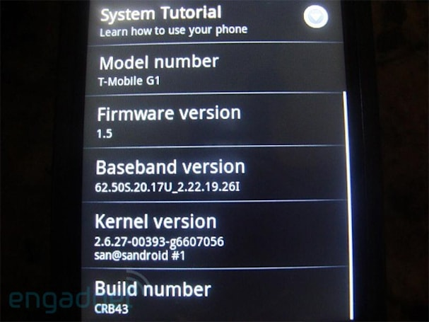 T-Mobile G1 won't see any Android updates beyond 1.5 (update: maybe it will)
