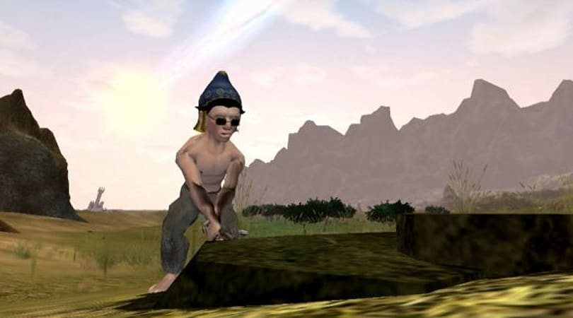 Shirtless gnome action in Gnoob video from Everquest II