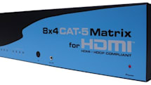 Gefen's 8x4 CAT-5 HDMI Matrix is probably overkill for you