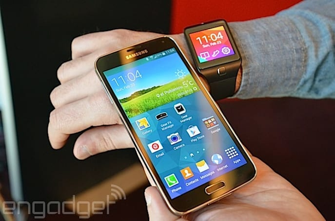 The Galaxy S5, along with Samsung's wearable lineup, heads to AT&T
