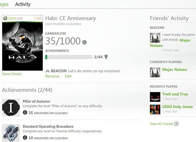Xbox.com upgrade will add new Social features, support for Xbox Live Beacons