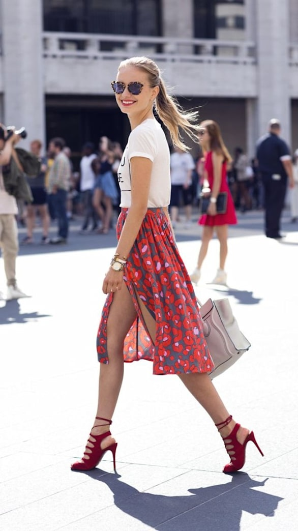 What to wear with red heels