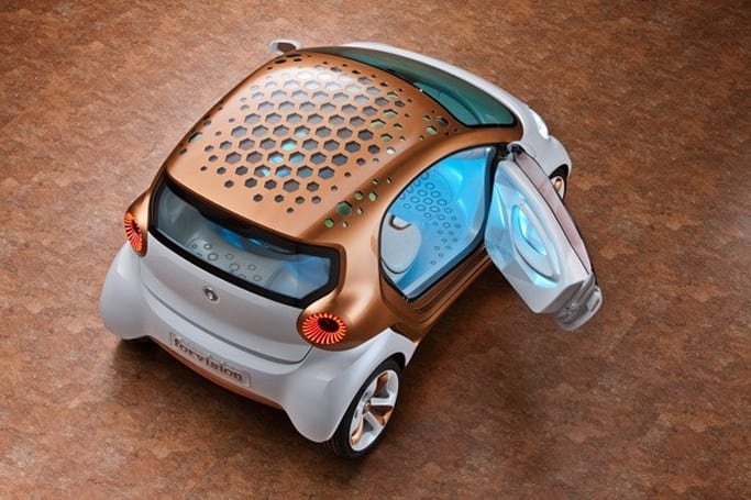 Daimler Smart Forvision: a solar-powered roof with plastic wheels never looked so good