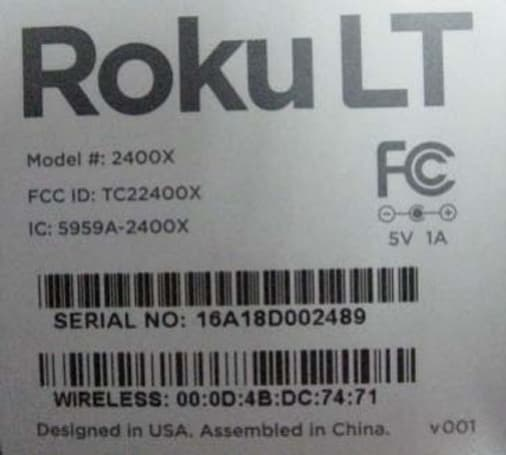 Budget-friendly Roku LT pops up at the FCC as the 2400X (Updated with pics)