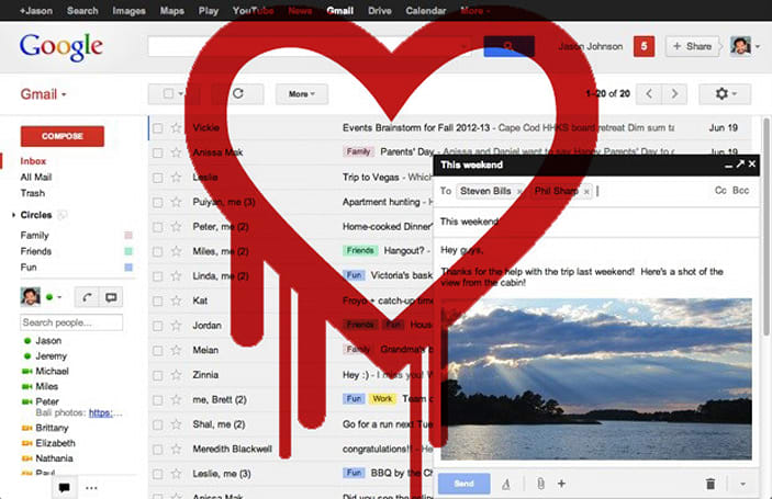 Google has patched most of its major services from the 'Heartbleed' security bug