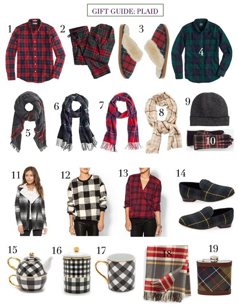 Holiday gift guide: For the plaid lover