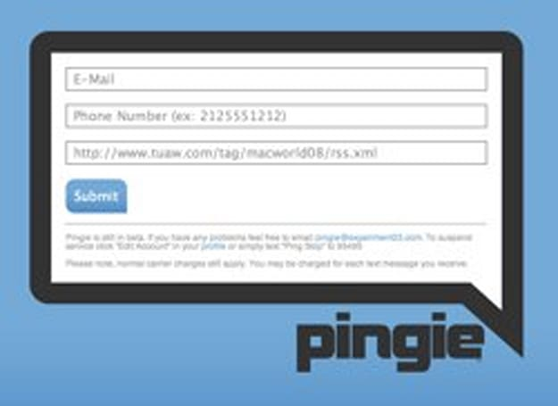 Use Pingie to get Macworld alerts from TUAW on your mobile