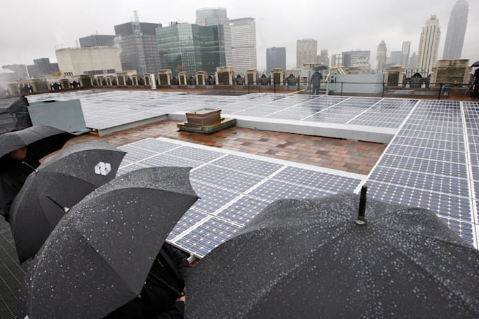 Solar cell generates power from raindrops