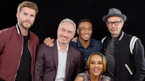 "Roland Emmerich, Liam Hemsworth, Jeff Goldblum, Jessie T. Usher, And Vivica Fox On ""Independence Day: Resurgence"""