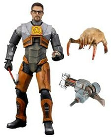 Gordon Freeman action figure has no push-button catch phrases