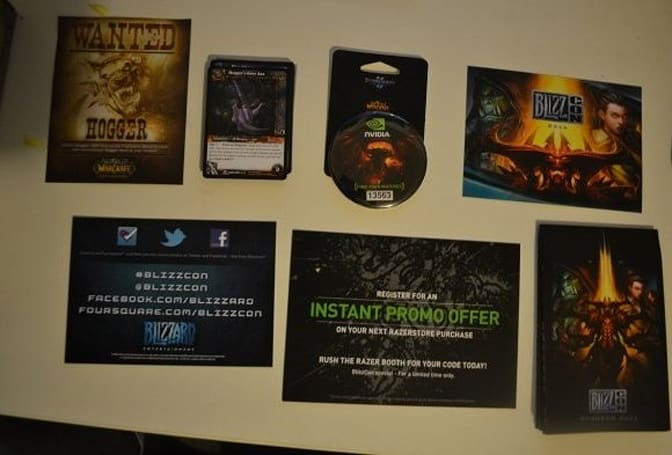 BlizzCon 2011 goodie bag pictures have surfaced