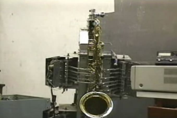 Saxy jazz-playing robot