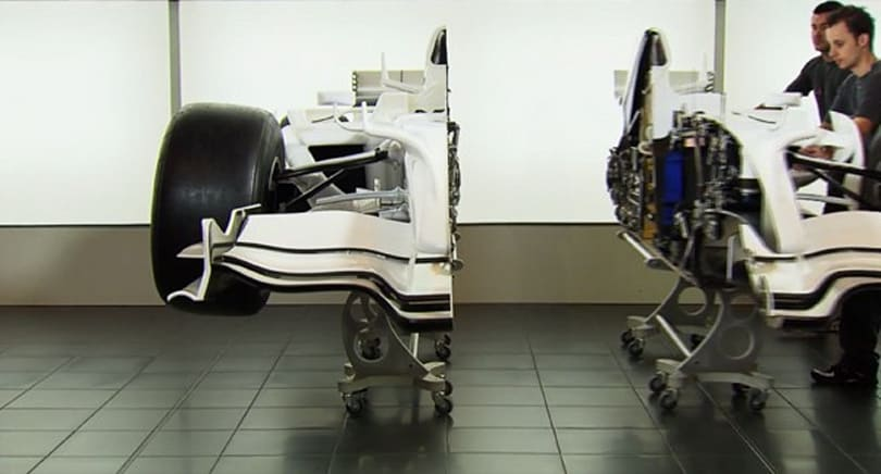 Visualized: Sauber F1 cutaway car is half the vehicle it used to be (video)
