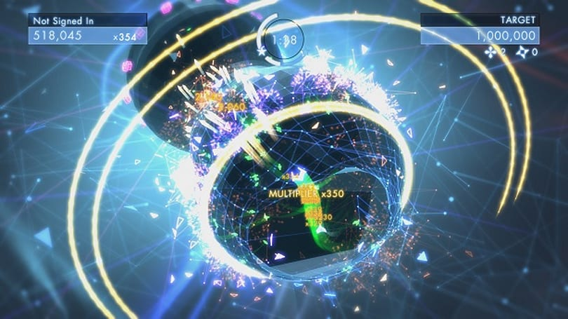 Geometry Wars 3: Dimensions twin-sticks with you
