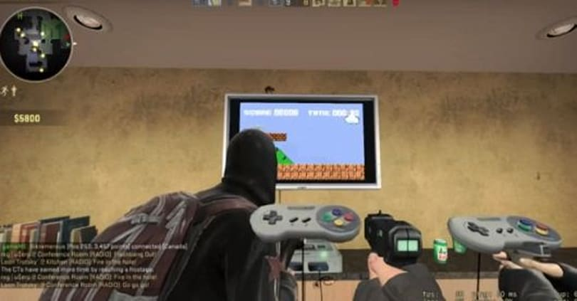 Mod lets you play 'Super Mareo Bruhs' inside Counter-strike