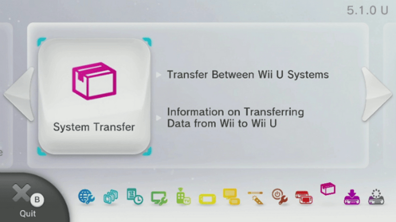Wii U update adds system-to-system transfers