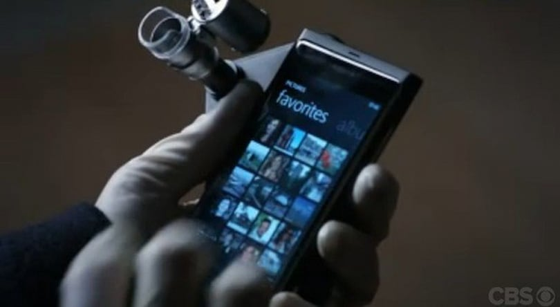 Screen Grabs: Elementary pilot has Sherlock Holmes using murder victim's Lumia 800