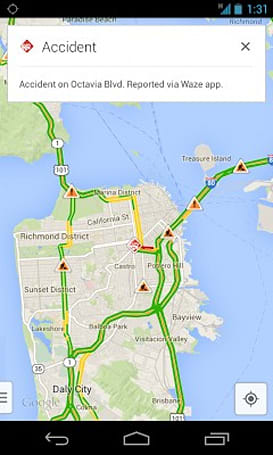 Google Maps gets real time Waze reports on Android and iOS