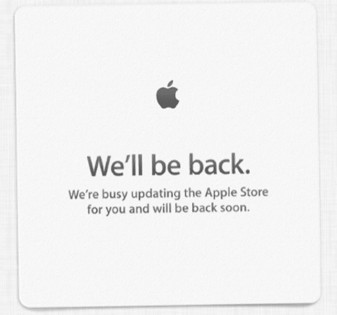 Online Apple Store is down (Updated)