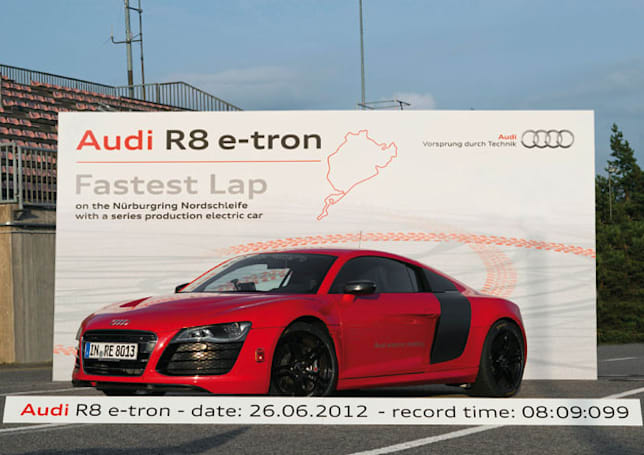Production R8 e-tron sets lap record at Nürburgring, Audi gains more EV bragging rights