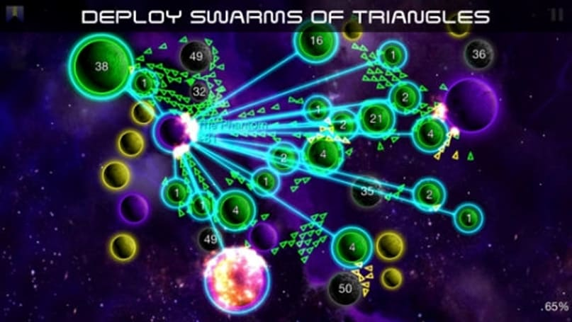 Rule the galaxy with an iron triangle in Galcon Legends, now on iOS