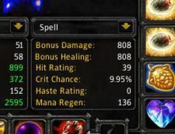 Combat stats and spellpower consolidated on Alpha