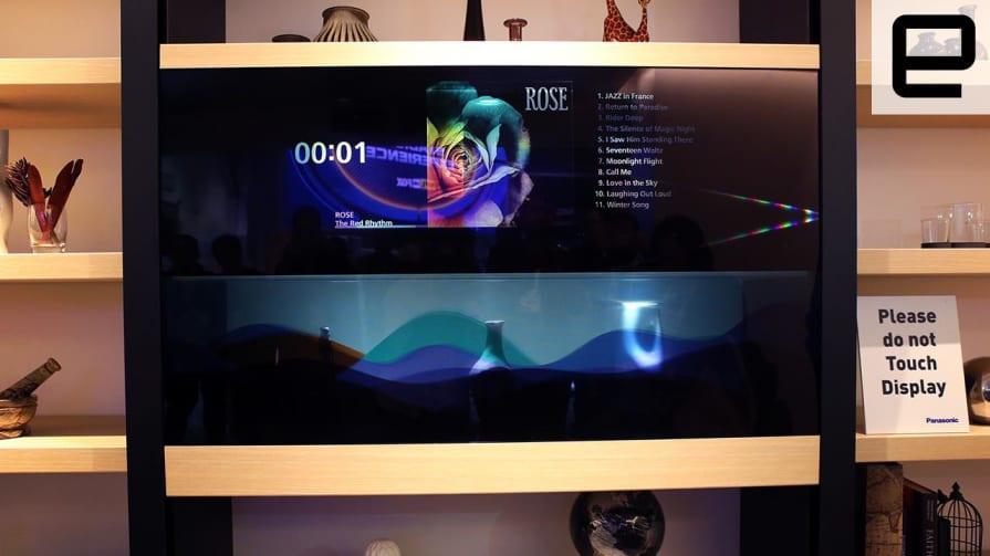 Up Close with Panasonic's Transparent Display