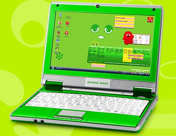 Kohjinsha livens up netbook game with shockingly green Gachapin edition