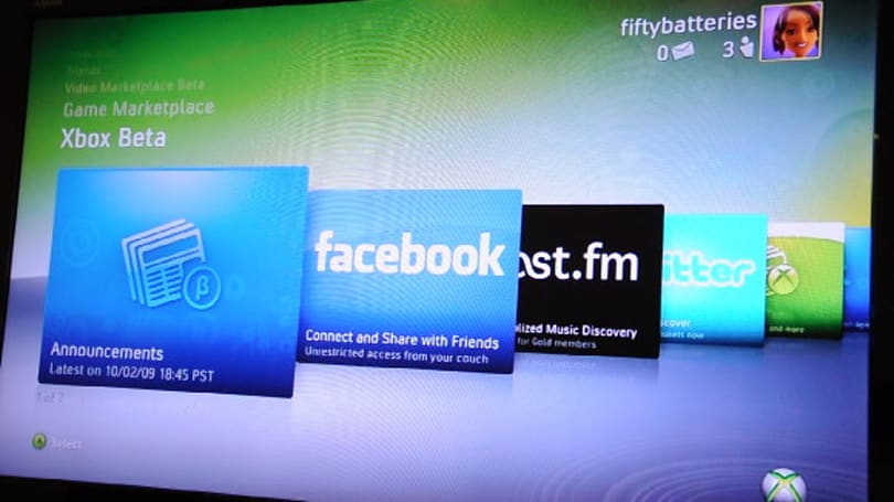 Xbox 360's new Zune, Last.fm, Facebook and Twitter features detailed on video