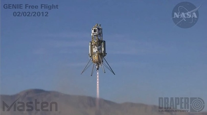 GENIE rocket system does smooth VTOL, lateral flight, cheap trips to Mars (video)