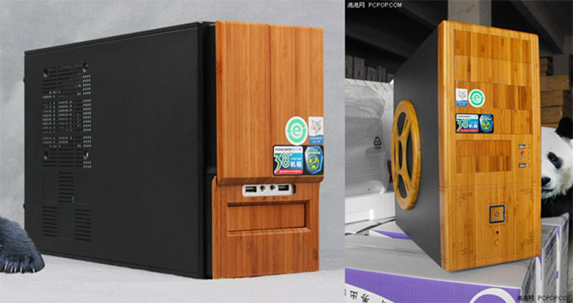 Foxconn distracts all with TXM-355 bamboo desktop chassis, brews bamboo tablet rumor