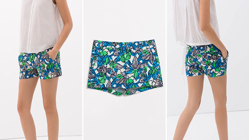 Want: Zara bright printed shorts