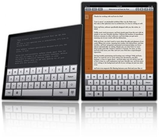 myTexts for iPad, distraction-free writing to go