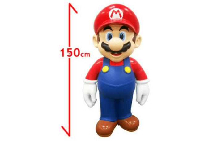 Life-size Mario statue for sale on Amazon Japan